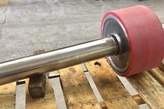 Red idler roller